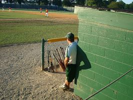 The baseball field. His happy place.