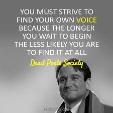Find your voice.