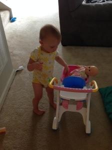 She loves her baby.