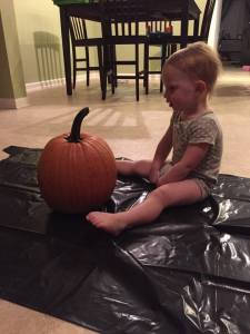 Sydney loves her pumpkin