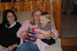 Opening presents with Grammie