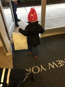 Shopper in training.