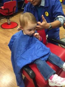 First hair cut.