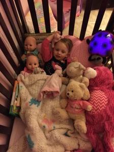 Sydney loves her babies